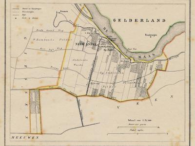 Gemeente Andel anno ca. 1870, kaart J. Kuijper (collectie www.atlasenkaart.nl)