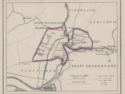 Gemeente Arkel anno ca. 1870, kaart J. Kuijper (collectie www.atlasenkaart.nl)