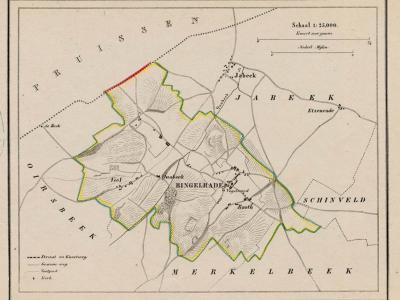 Gemeente Bingelrade anno ca. 1870, kaart J. Kuijper (collectie www.atlasenkaart.nl)