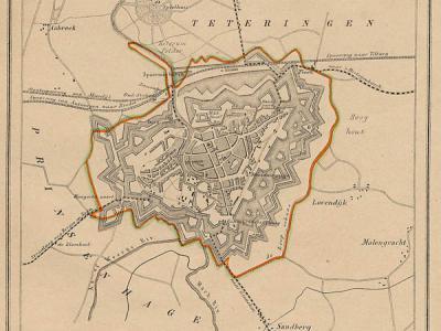 Gemeente Breda anno ca. 1870, kaart J. Kuijper (collectie www.atlasenkaart.nl)