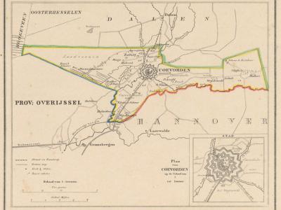 Gemeente Coevorden anno ca. 1870, kaart J. Kuijper (collectie www.atlasenkaart.nl)