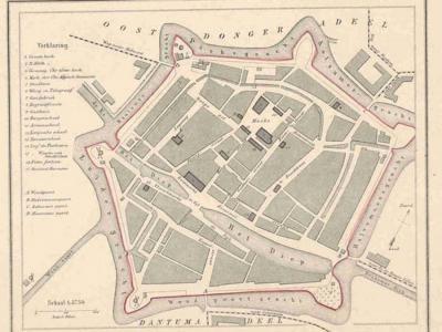 Gemeente Dokkum anno ca. 1870, kaart J. Kuijper (collectie www.atlasenkaart.nl)