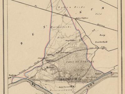 Gemeente Doorwerth anno ca. 1870, kaart J. Kuijper