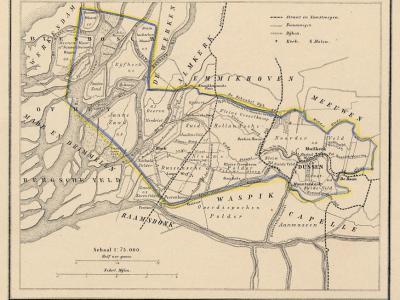 Gemeente Dussen anno ca. 1870, kaart J. Kuijper (collectie www.atlasenkaart.nl)