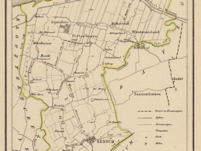 Gemeente Eenrum anno ca. 1870, kaart J. Kuijper