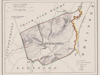Gemeente Eygelshoven anno ca. 1870, kaart J. Kuijper (collectie www.atlasenkaart.nl)