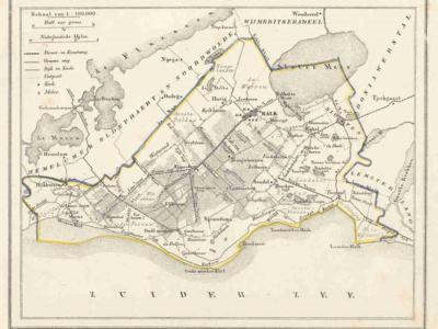 Gemeente Gaasterland anno ca. 1870, kaart J. Kuijper (collectie www.atlasenkaart.nl)