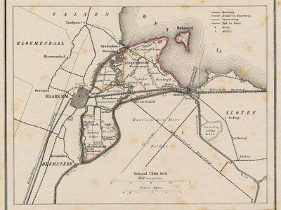 Gemeente Haarlemmerliede en Spaarnwoude anno ca. 1870, kaart J. Kuijper (collectie www.atlasenkaart.nl)
