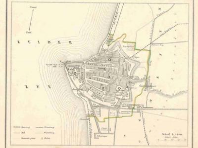 Gemeente Harlingen anno ca. 1870, kaart J. Kuijper (collectie www.atlasenkaart.nl)