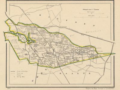 Gemeente Heino anno ca. 1870, kaart J. Kuijper (collectie www.atlasenkaart.nl)