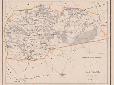 Gemeente Hengelo anno ca. 1870, kaart J. Kuijper