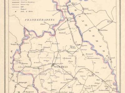 Gemeente Hennaarderadeel anno ca. 1870, kaart J. Kuijper (collectie www.atlasenkaart.nl)