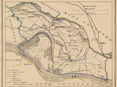 Gemeente Herwen en Aerdt anno ca. 1870, kaart J. Kuijper