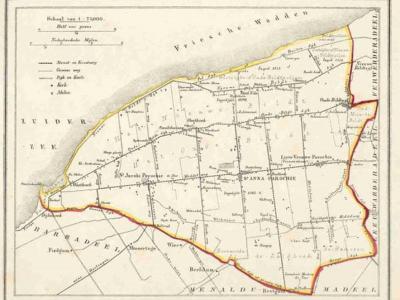 Gemeente Het Bildt anno ca. 1870, kaart J. Kuijper (collectie www.atlasenkaart.nl)