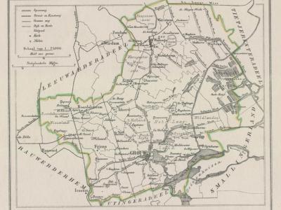 Gemeente Idaarderadeel anno ca. 1870, kaart J. Kuijper (collectie www.atlasenkaart.nl)