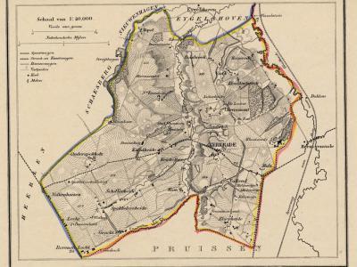 Gemeente Kerkrade anno ca. 1870, kaart J. Kuijper (collectie www.atlasenkaart.nl)