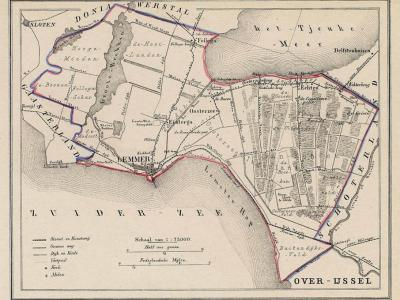 Gemeente Lemsterland anno ca. 1870, kaart J. Kuijper (collectie www.atlasenkaart.nl)