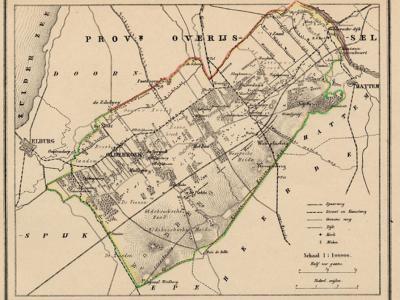 Gemeente Oldebroek anno ca. 1870, kaart J. Kuijper