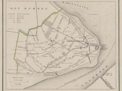 Gemeente Ooltgensplaat anno ca. 1870, kaart J. Kuijper (collectie www.atlasenkaart.nl)