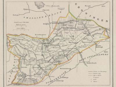 Gemeente Opsterland anno ca. 1870, kaart J. Kuijper (collectie www.atlasenkaart.nl)