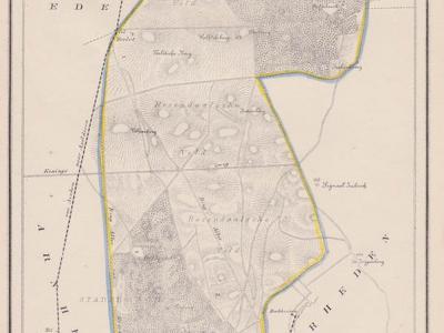 Gemeente Rozendaal anno ca. 1870, kaart J. Kuijper