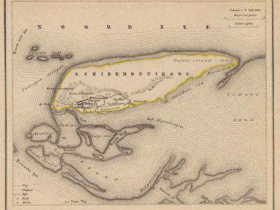 Gemeente Schiermonnikoog anno ca. 1870, kaart J. Kuijper (collectie www.atlasenkaart.nl)