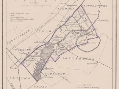 Gemeente Stompwijk anno ca. 1870, kaart J. Kuijper (collectie www.atlasenkaart.nl)