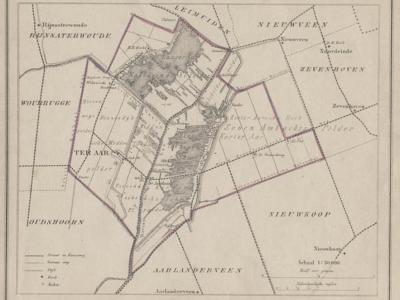 Gemeente Ter Aar anno ca. 1870, kaart J. Kuijper (collectie www.atlasenkaart.nl)