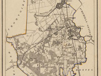 Gemeente Vught anno ca. 1870, kaart J. Kuijper (collectie www.atlasenkaart.nl)