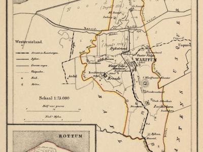 Gemeente Warffum anno ca. 1870, kaart J. Kuijper (collectie www.atlasenkaart.nl)