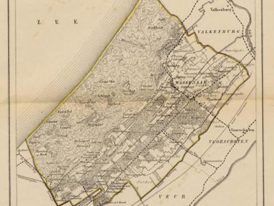 Gemeente Wassenaar anno ca. 1870, kaart J. Kuijper