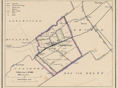 Gemeente Wateringen anno ca. 1870, kaart J. Kuijper (collectie www.atlasenkaart.nl)