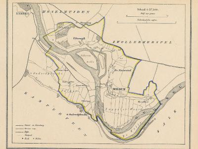 Gemeente Wilsum anno ca. 1870, kaart J. Kuijper (collectie www.atlasenkaart.nl)