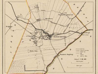 Gemeente Winschoten anno ca. 1870, kaart J. Kuijper (© www.atlasenkaart.nl)
