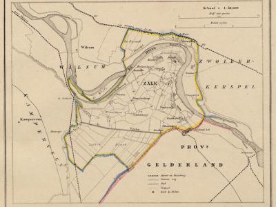 Gemeente Zalk en Veecaten anno ca. 1870, kaart J. Kuijper (collectie www.atlasenkaart.nl)