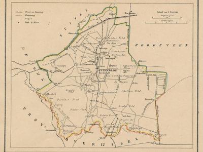 Gemeente Zuidwolde anno ca. 1870, kaart J. Kuijper (collectie www.atlasenkaart.nl)