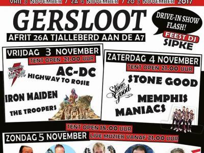 In een weekend begin november is het altijd 'iets' minder rustig dan gebruikelijk in het dorpje Gersloot bij Heerenveen. Dan is er namelijk het Streekein Festival, met drie avonden lang livemuziek.