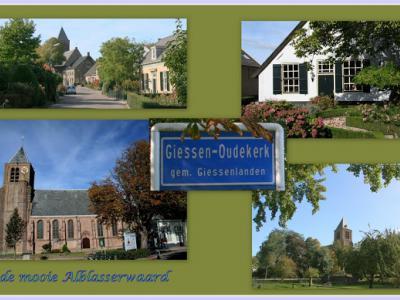 Giessen-Oudekerk, collage van dorpsgezichten (© Jan Dijkstra, Houten)