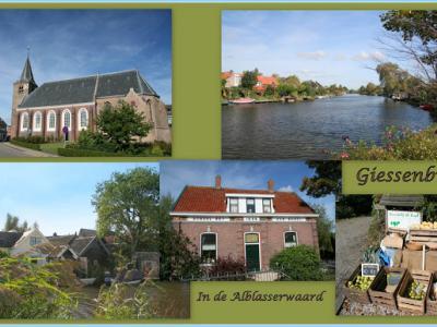 Giessenburg, collage van dorpsgezichten (© Jan Dijkstra, Houten)