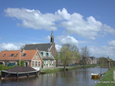 Gijbeland, dorpsgezicht, met o.a. de Gereformeerde (PKN) kerk
