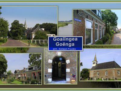 Goënga, collage van dorpsgezichten (© Jan Dijkstra, Houten)