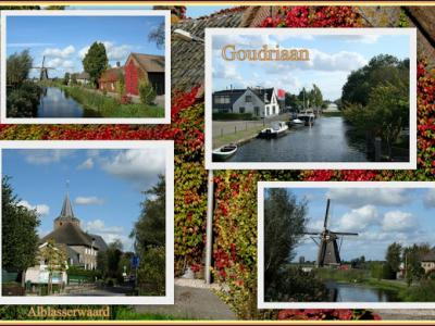 Goudriaan, collage van dorpsgezichten (© Jan Dijkstra, Houten)