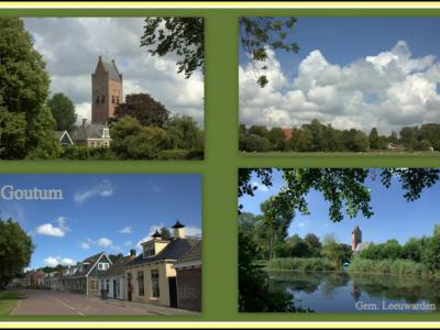 Goutum, collage van dorpsgezichten (© Jan Dijkstra, Houten)