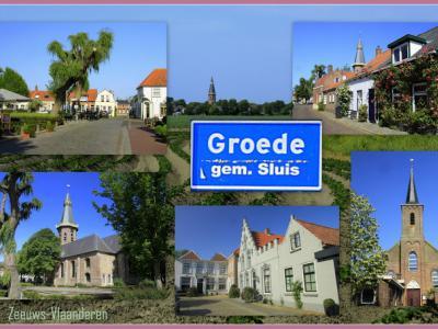 Groede, collage van dorpsgezichten (© Jan Dijkstra, Houten)