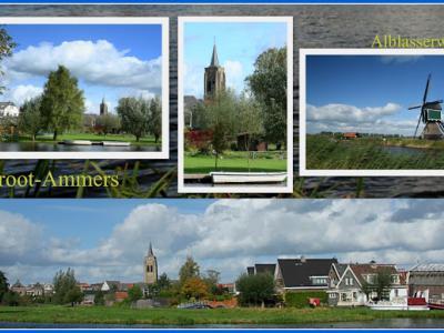 Groot-Ammers, collage van dorpsgezichten (© Jan Dijkstra, Houten)