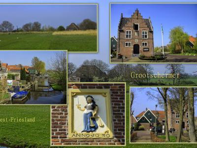 Grootschermer, collage van dorpsgezichten (© Jan Dijkstra, Houten)
