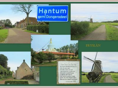 Hantum, collage van dorpsgezichten (© Jan Dijkstra, Houten)
