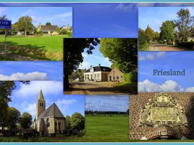 Harich, collage van dorpsgezichten (© Jan Dijkstra, Houten)