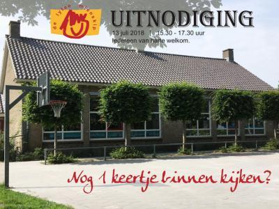 Basisschool De Lytse Mienskip in Haskerhorne was te klein geworden om nog verantwoord te kunnen doorgaan, daarom kon iedereen na afloop van schooljaar 2017-2018, op 13 juli 2018, nog één keer binnen kijken. Daarna ging de deur definitief op slot...