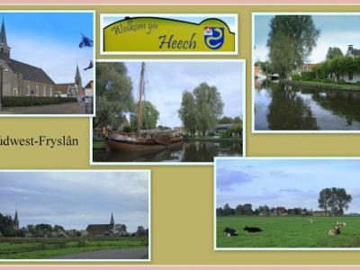 Heeg, collage van dorpsgezichten (© Jan Dijkstra, Houten)